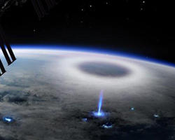 DTU illustration of high-altitude electrical discharges such as blue jets from ISS via ASIM