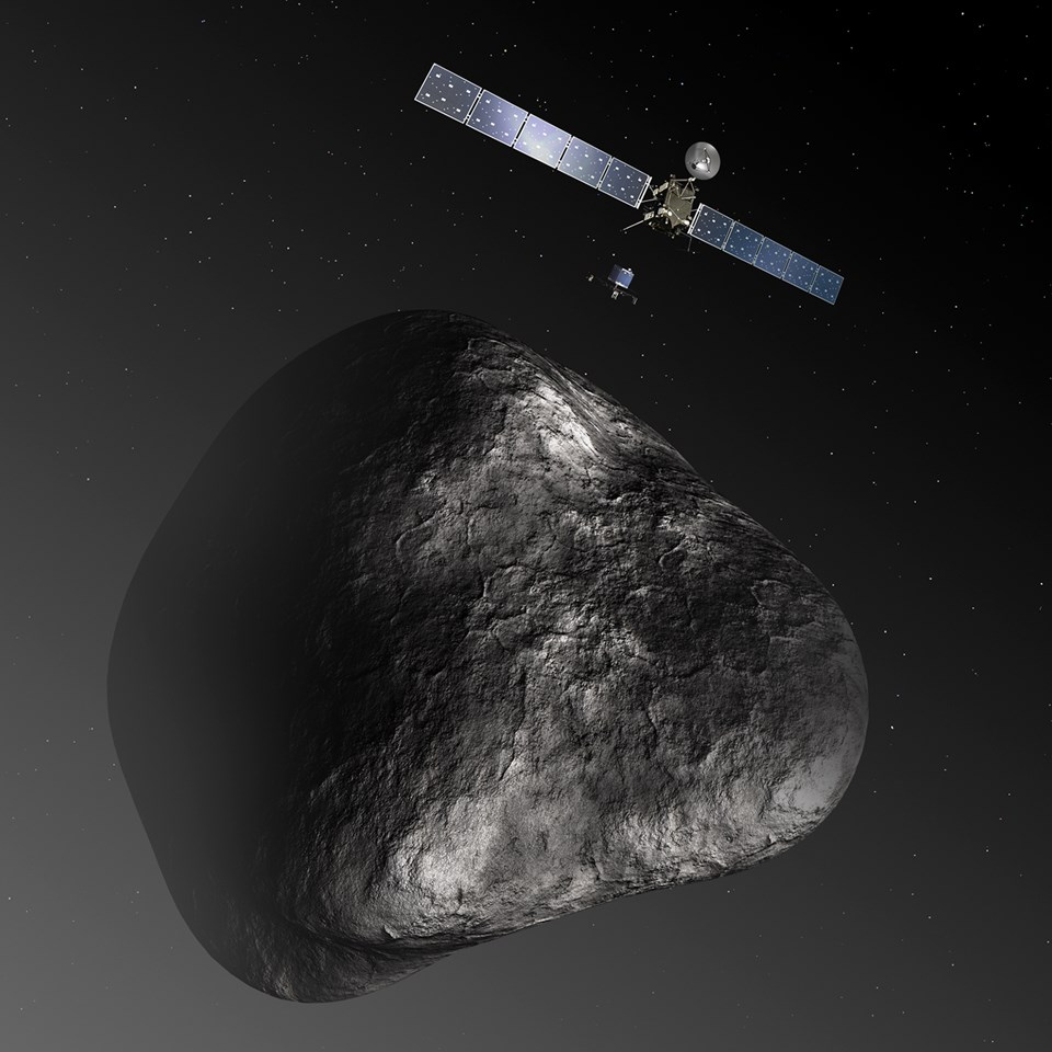 Rosetta And Philae At Comet 04 ESA–C. Carreauatg Medialab