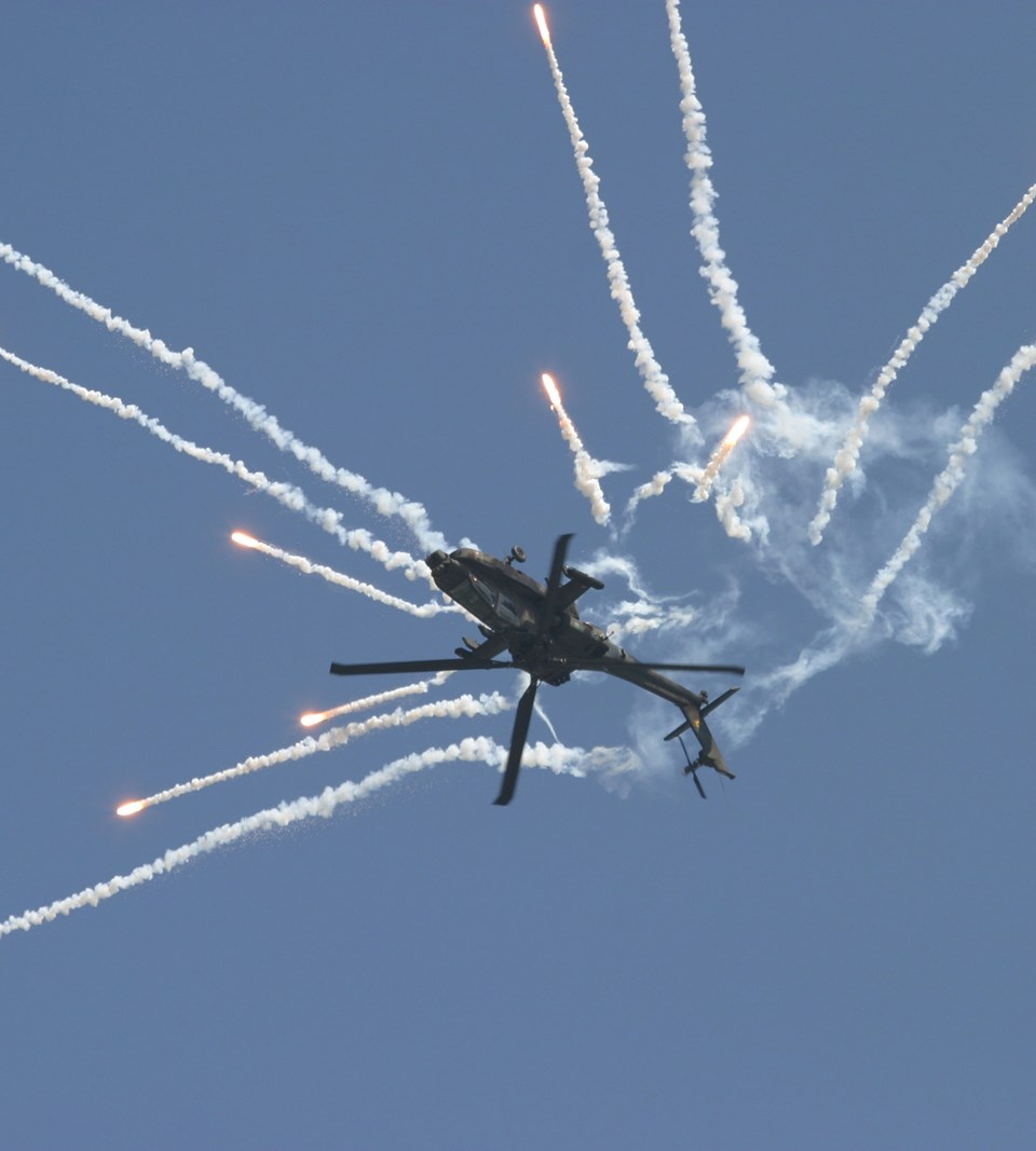 Apache flares Upside down